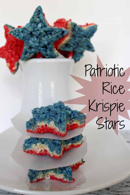 Patriotic Rice Krispie Stars by Princess Pinky Girl