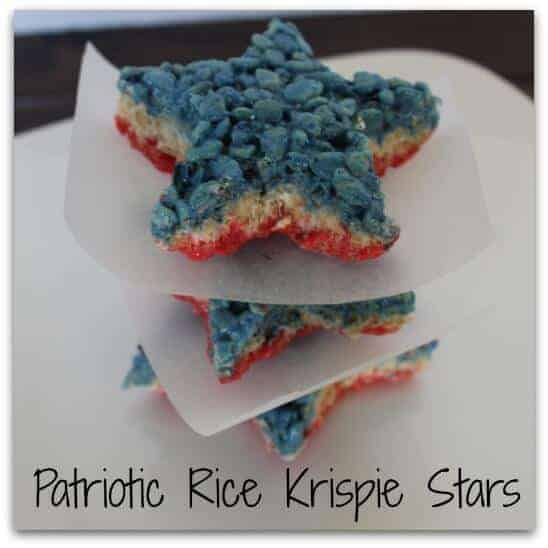 Rice Krispie Star Treats for 4th of July