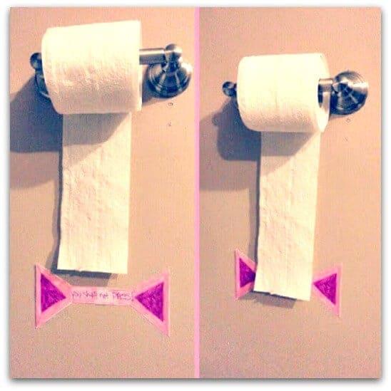 Toilet paper line
