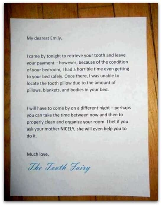 genius tooth fairy note