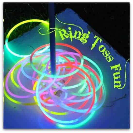 glow in the dark ring toss