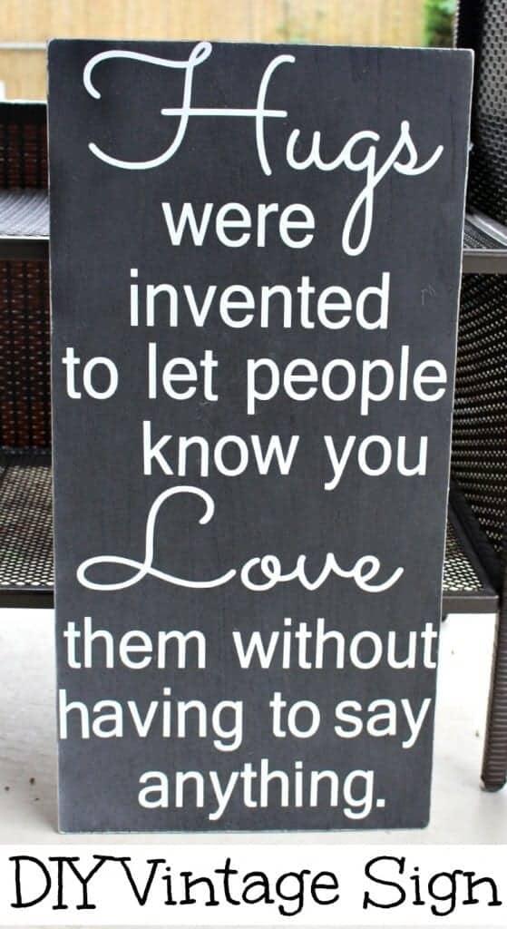 make a vintage sign