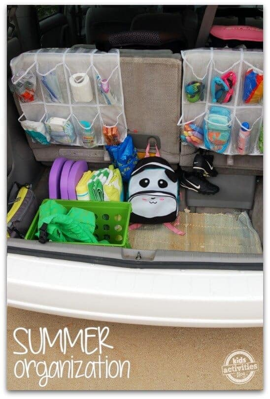 shoe bags to organize your car