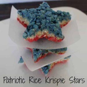 Patriotic Rice Krispie Treat Stars