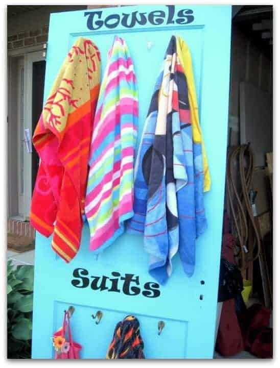 swimsuit towel door