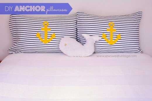 Anchor Pillows from Sew Sweet Vintage