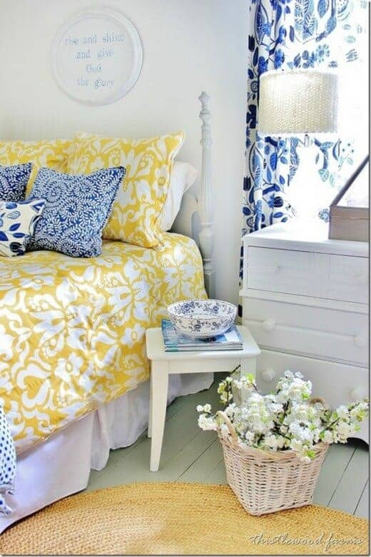 Blue and Yellow Bedroom from Thistlewood Farms