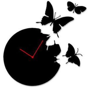 ButterflyTimeFlyWallClock-