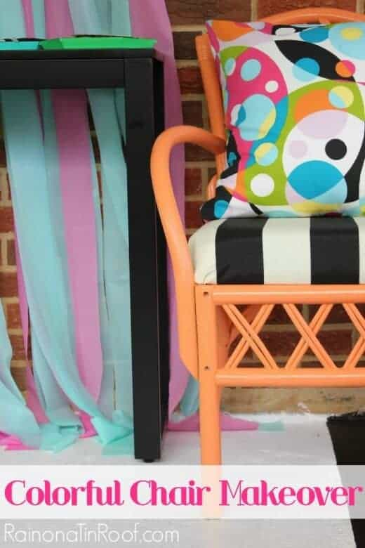 Colorful Chair Makeover from Rain on a Tin Roof