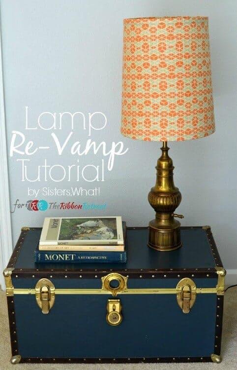 Lamp Revamp from the Ribbon Retreat