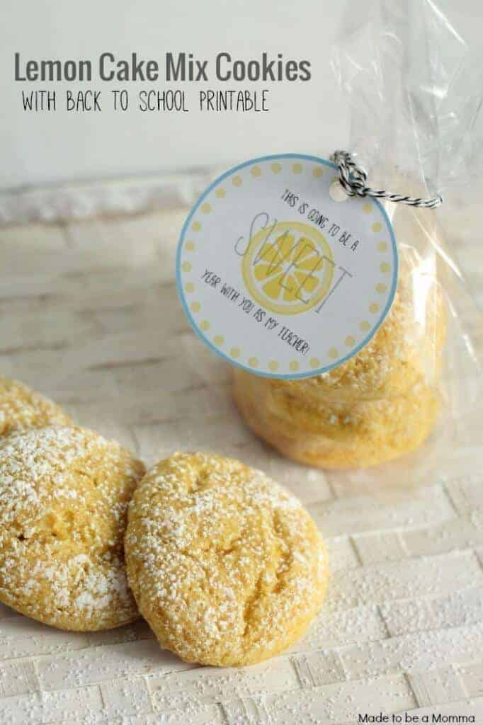 Lemon Cake Mix Cookies feature