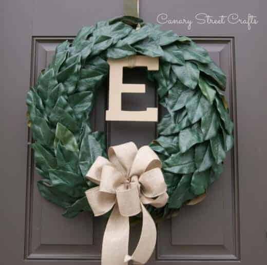 Magnolia Leaf Wreath from Canary Street Crafts