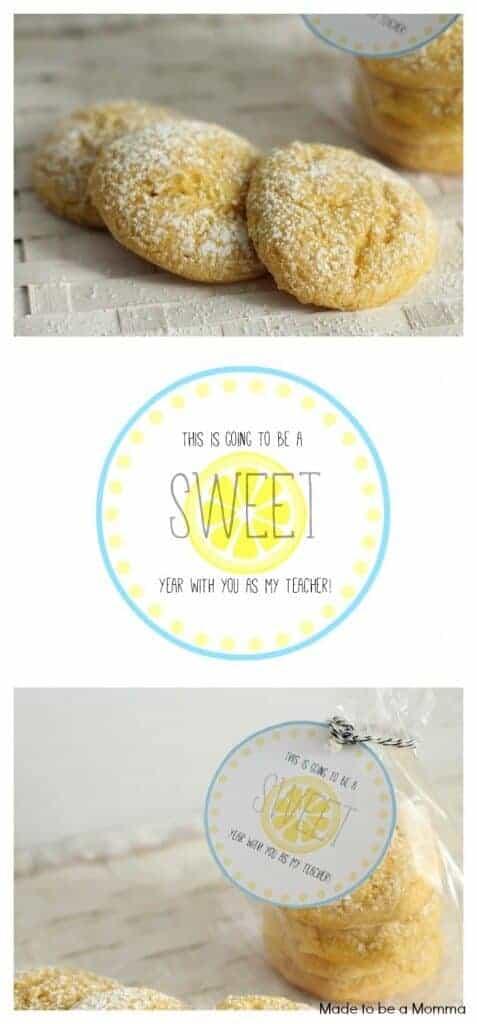 close up lemon cookies