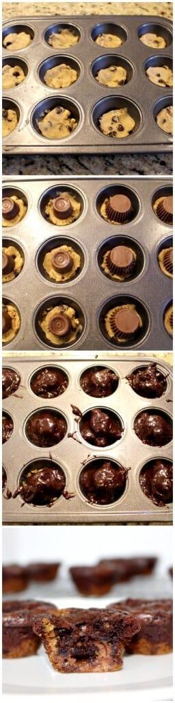 cookie brownie bites pictorial
