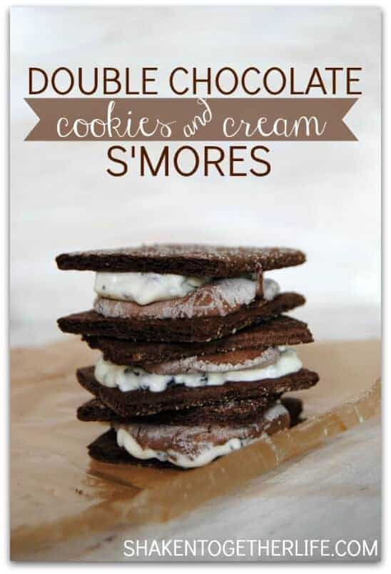 double chocolate cookies and cream smores