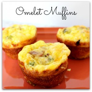 omelet muffins square