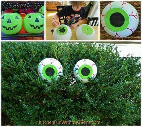 Dollar store spooky eyeballs from Kitchen Fun With My Three Sons