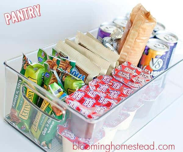Back to School Snack Organization from The Blooming Homestead