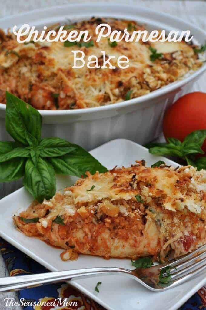 Chicken Parmeson Bake from the Seasoned Mom