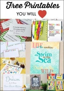 Free Printables You Will Love!