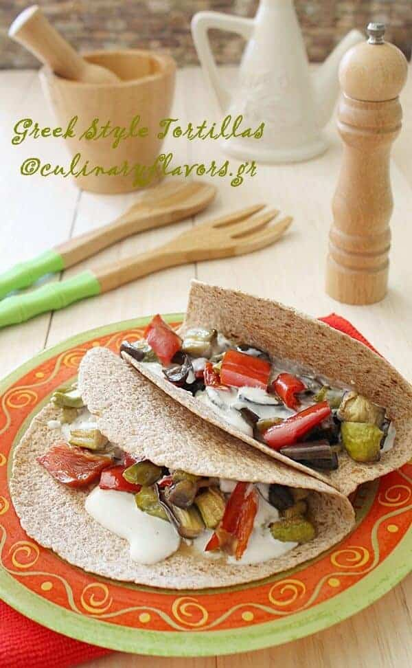 Greek Style Tortillas from Culinary Flavors