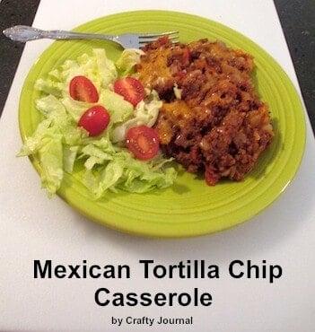 Gluten Free Mexican Tortilla Chicken Casserole from Crafty Journal