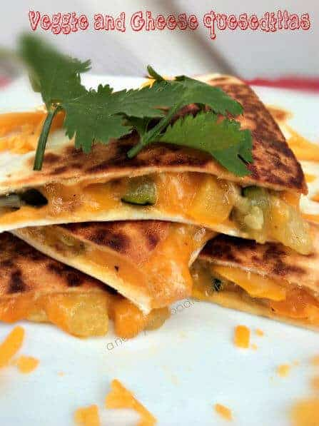 Veggie and Cheese Quesadillas from the New York Foodie