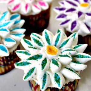 Giant Flower Cupcakes
