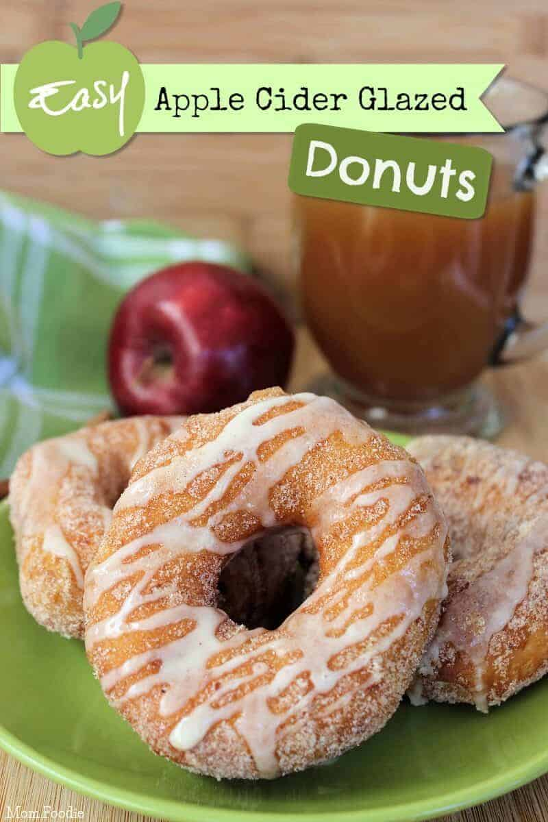 Cinnamon Apple Cider Donuts from Mom Foodie
