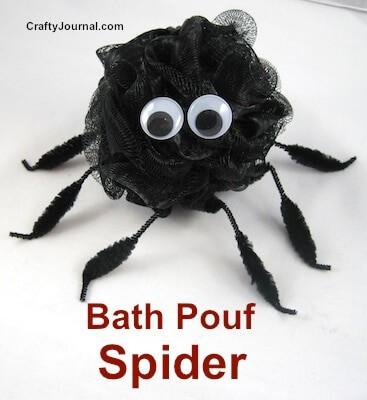 Bath Pouf Spider from Crafty Journal