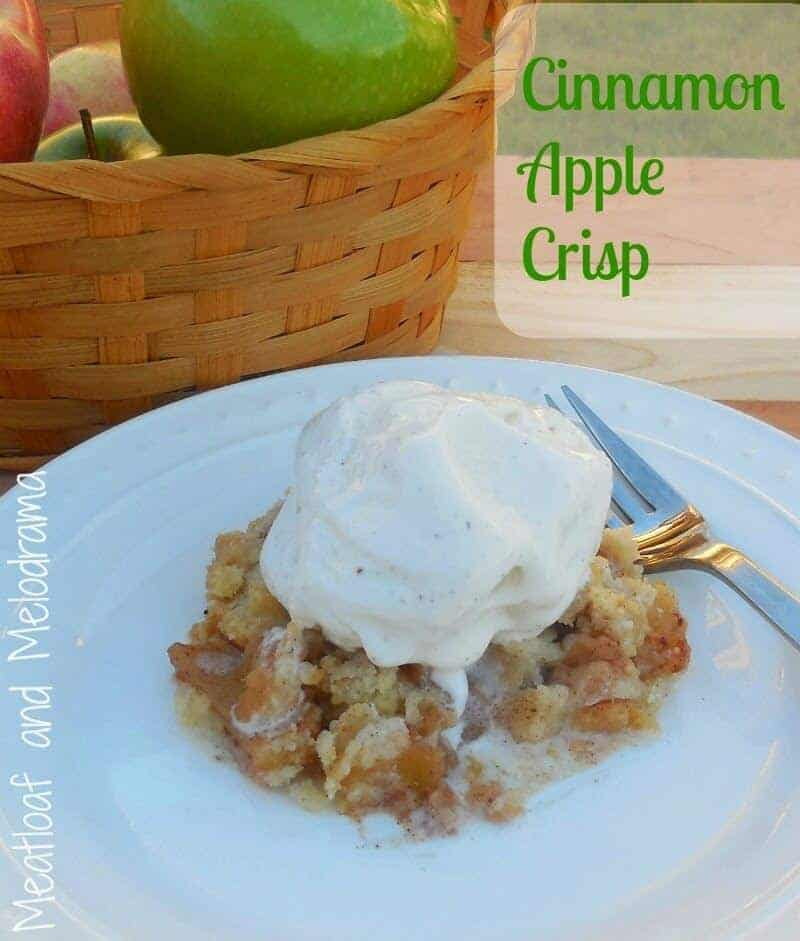 Cinnamon Apple Crisp from Meatloaf and Melodrama