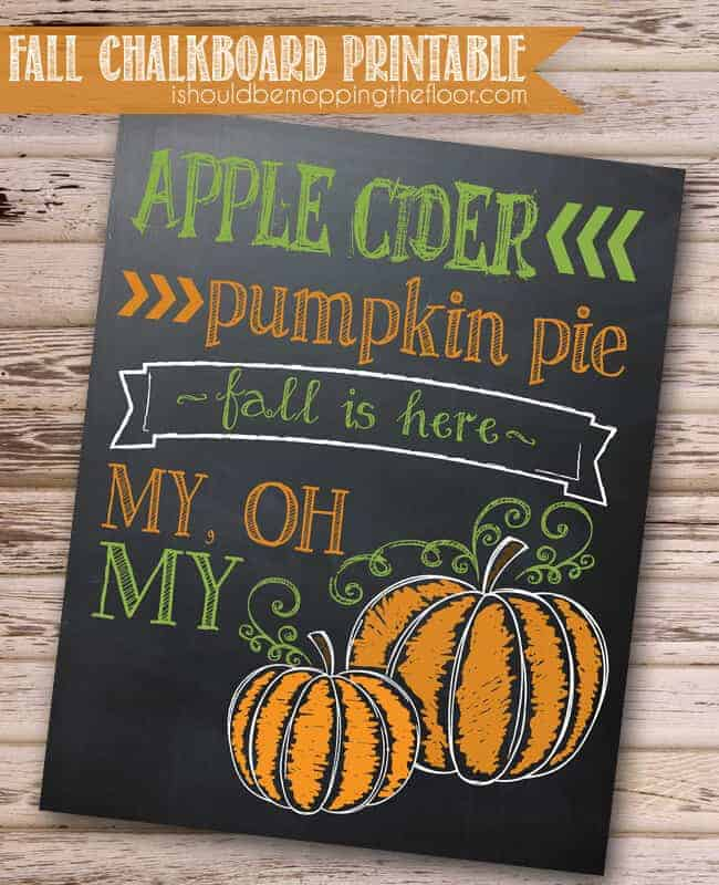 Fall Chalkboard Printable from I Should Be Mopping the Floor