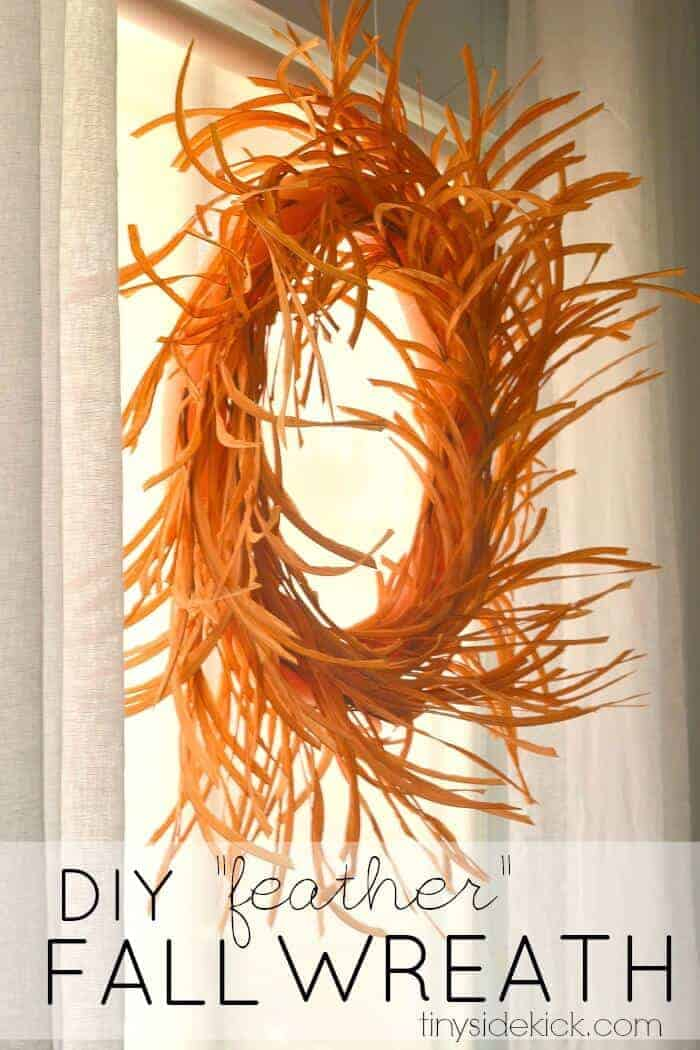 Fall Feather Wreath from Tiny Sidekick