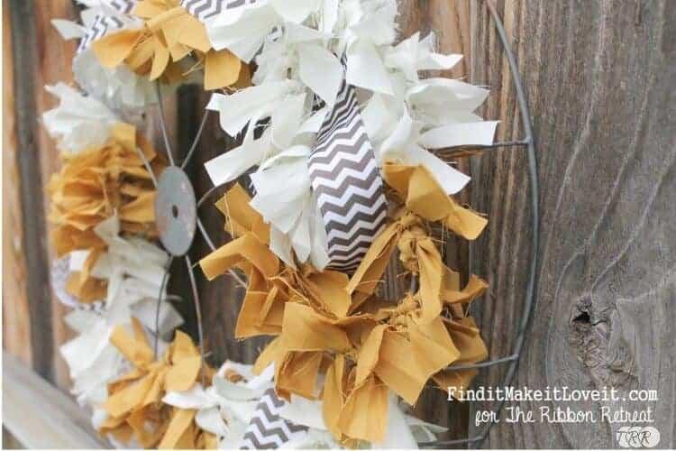 Fall Rag Wreath from the Ribbon Retreat