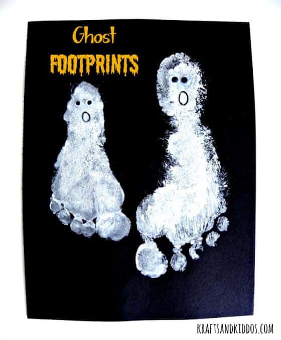 Ghost Footprints with Krafts and Kiddos