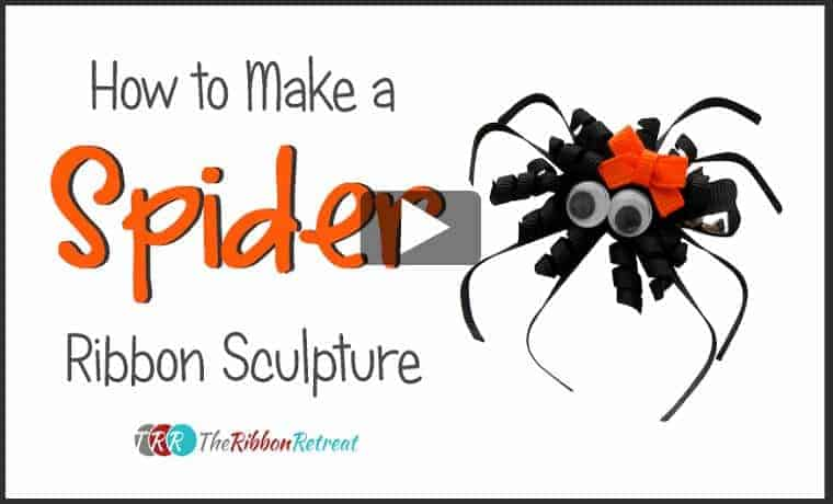 How to make a spider ribbon sculpture with the Ribbon Retreat