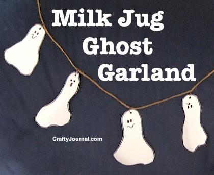 Milk Jug Ghost Garland from Crafty Journal