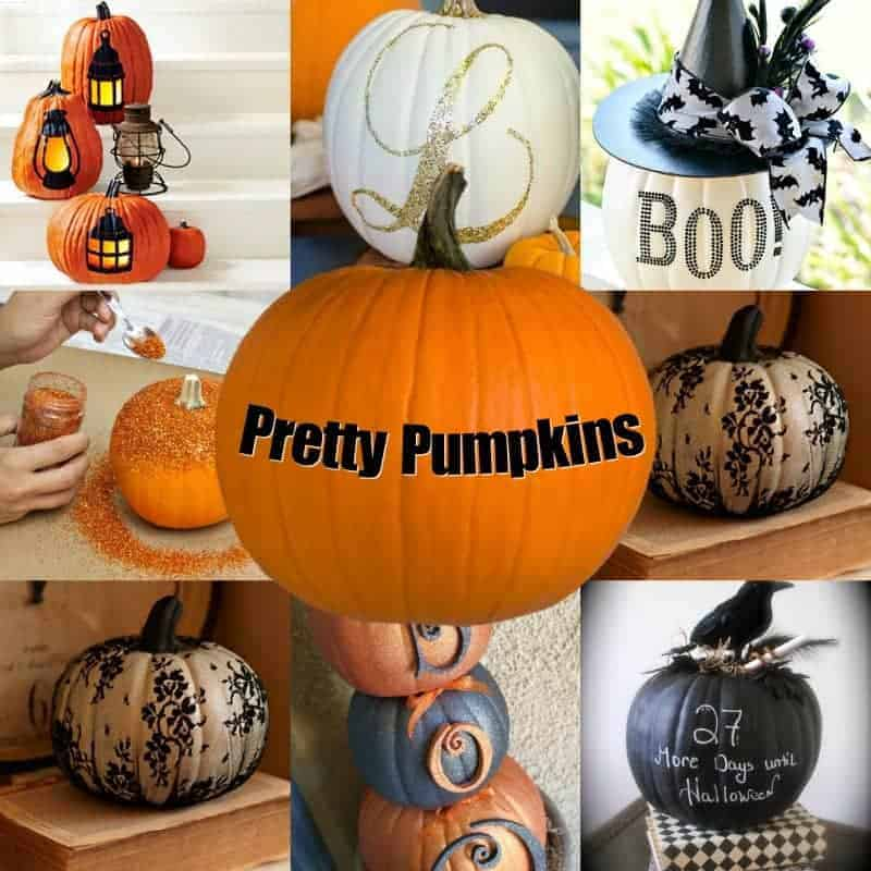 Pretty Pumpkins - pumpkins don't have to be scary!