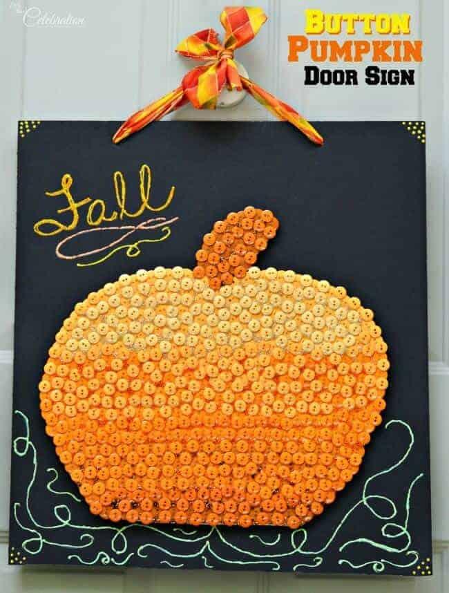 Pumpkin Button Art from Little Miss Celebration