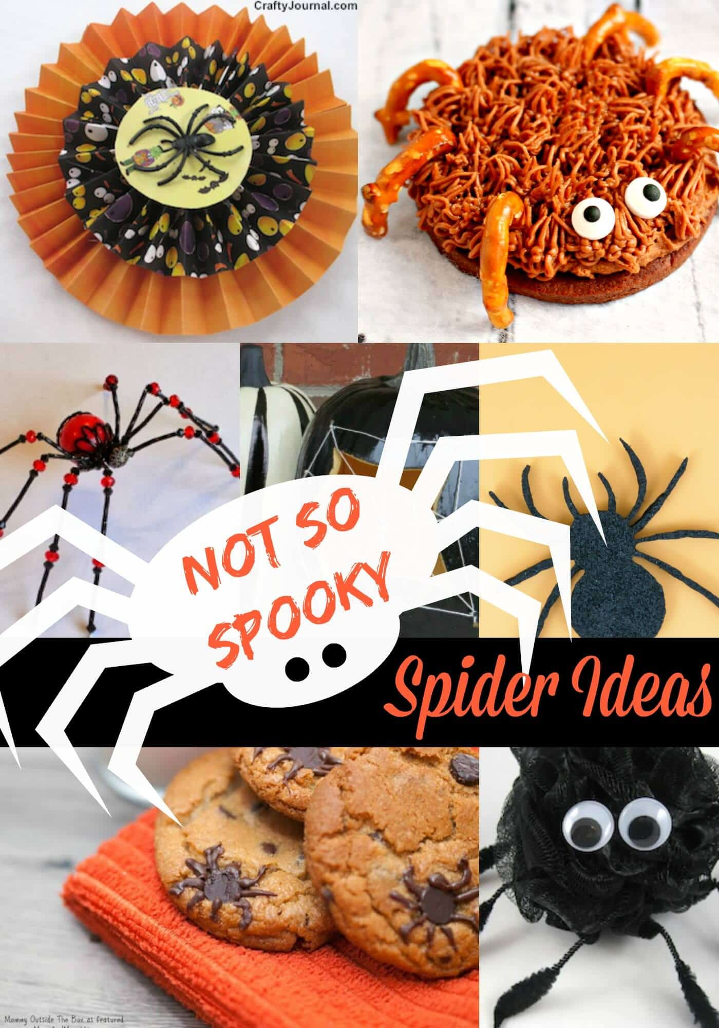Not so Spooky Spider Ideas for Halloween