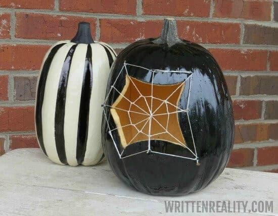 Spider Web Pumpkin by Written Reality