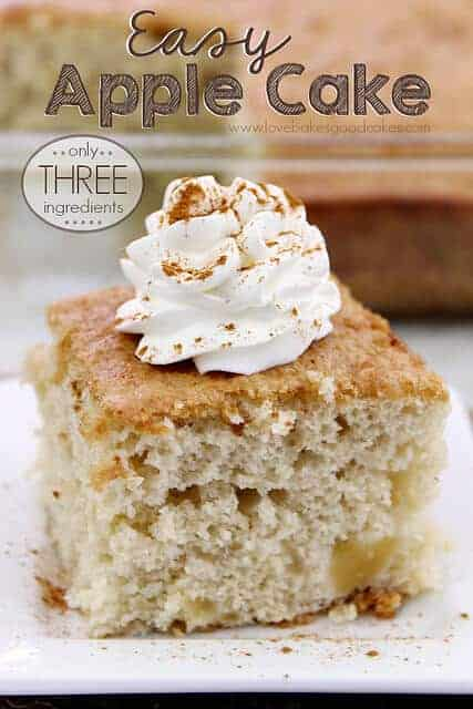 Three Ingredient Apple Cake from Love Bakes Good