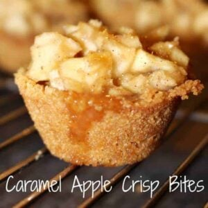 Caramel apple crisp bites
