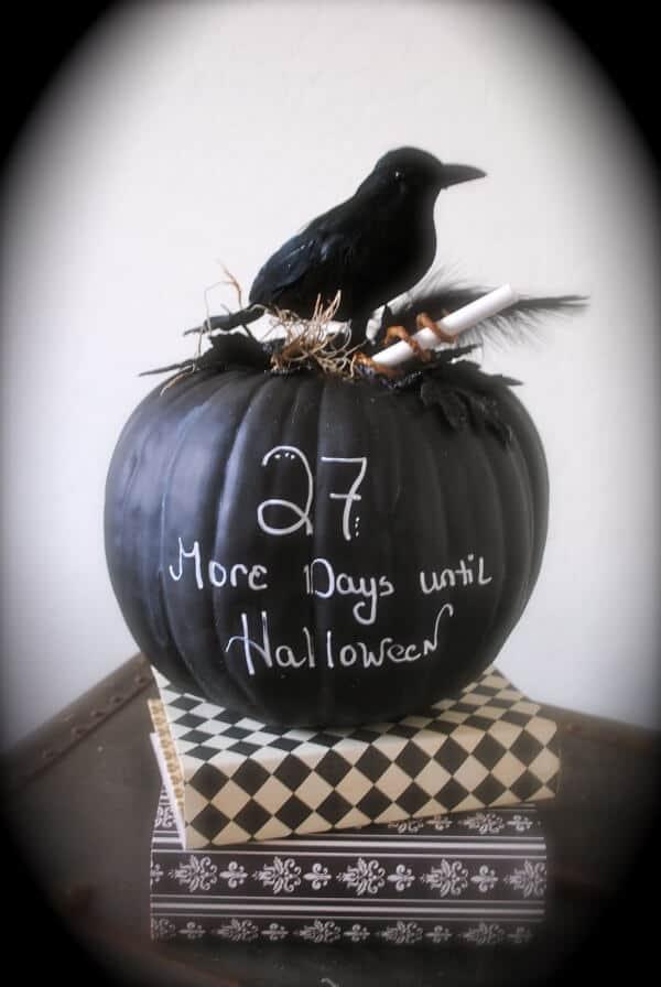 countdown chalkboard pumpkin