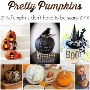 Pretty Pumpkins {they don't have to be scary!}