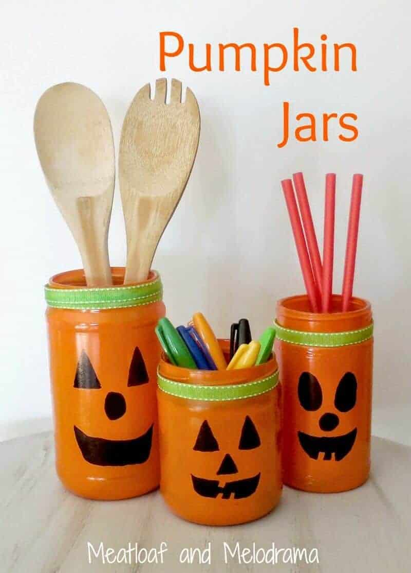Pumpkin Jars from Meatloaf and Melodrama