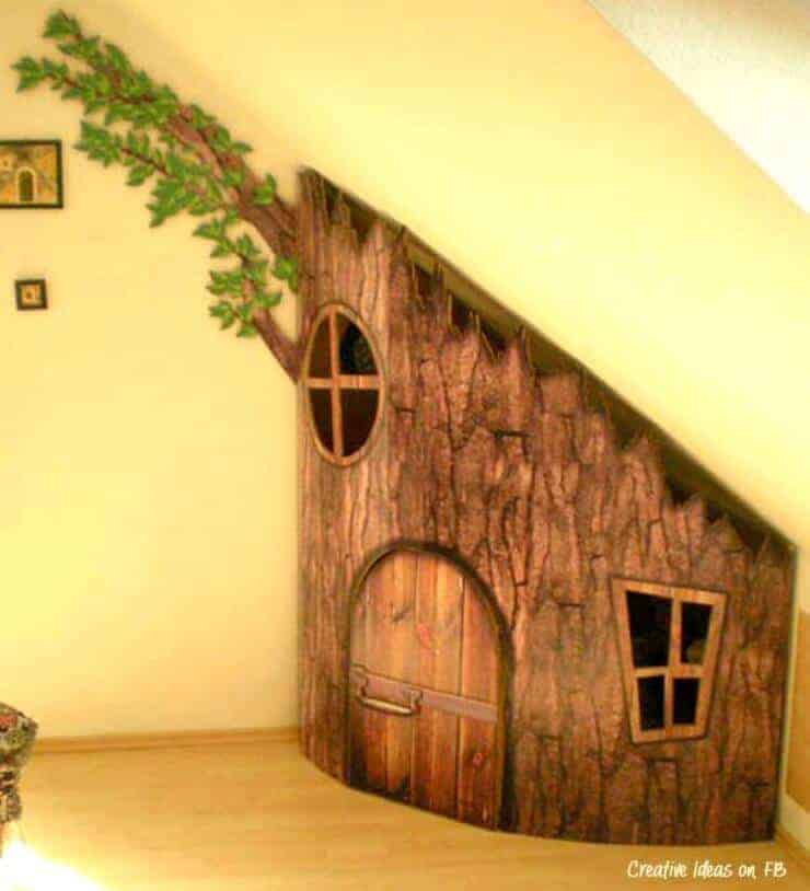 under the stair treehouse