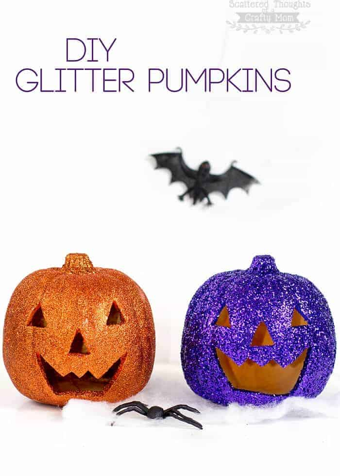 DIY Glitter Pumpkins from Scattered Thoughts of a Crafty Mom