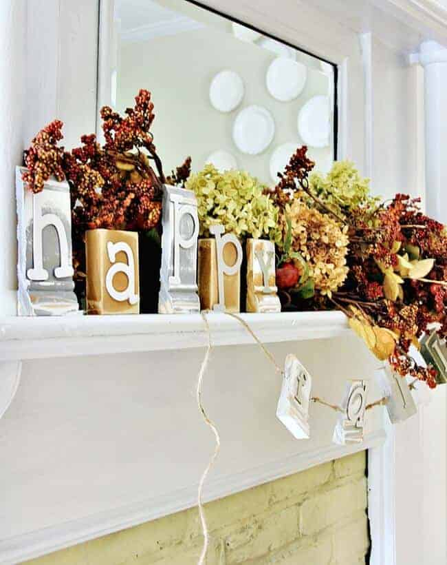 Fall Block Garland by Thistlewood Farms