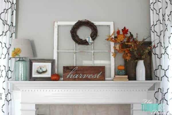 Fall Mantel by the Turquoise Home